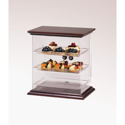 Cal mil 814 52 euro 3 tier wood display case etundra for Dining room equipment