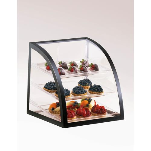 Cal mil p255 13 3 tier display case pastry bakery muffin for Dining room equipment