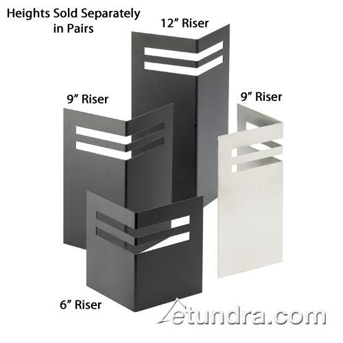 7 1/4 in x 3 1/2 in x 9 in Black Angled Risers at Discount Sku 1429-9-13 CLM1429913