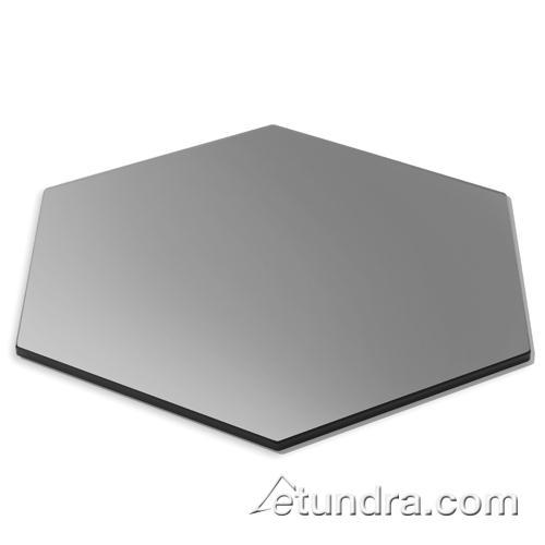"Hexagon 19"" Black Tempered Glass at Discount Sku SG011 ROSSG011"
