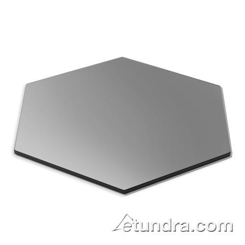"Hexagon 14"" Black Tempered Glass at Discount Sku SG013 ROSSG013"