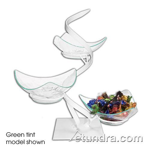 3-Tier Ribbon Stand w/Vine Clear Acrylic Bowls at Discount Sku GL1320-C GMDGL1320C