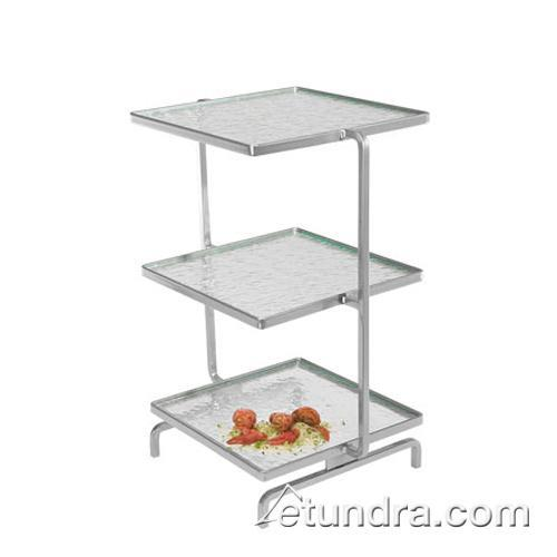 3-Level Strata Tower w/Square Green Tint Acrylic Trays at Discount Sku GL2310-G GMDGL2310G