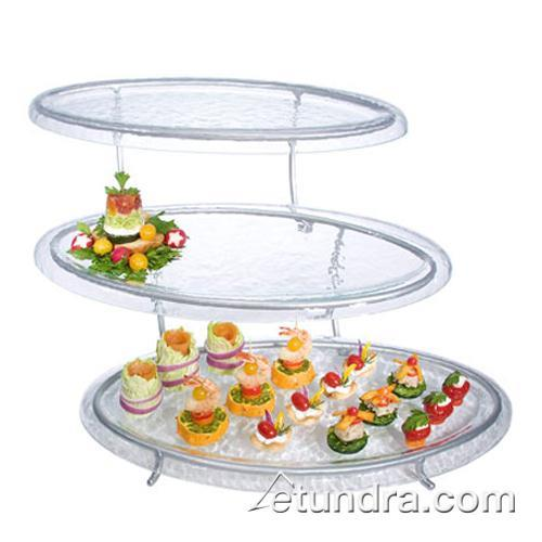3-Tier Stand w/Oval Clear Acrylic Trays at Discount Sku GL2430-C GMDGL2430C