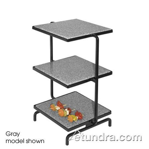 3-Tier Strata Tower w/Black Serving Stones at Discount Sku SS2300-1 GMDSS23001