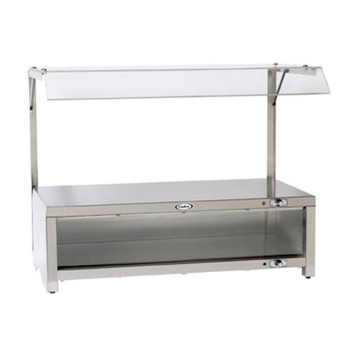 Cadco - CMLW-CSG - Warming Cabinet With Sneeze Guard And Warming Shelf Top
