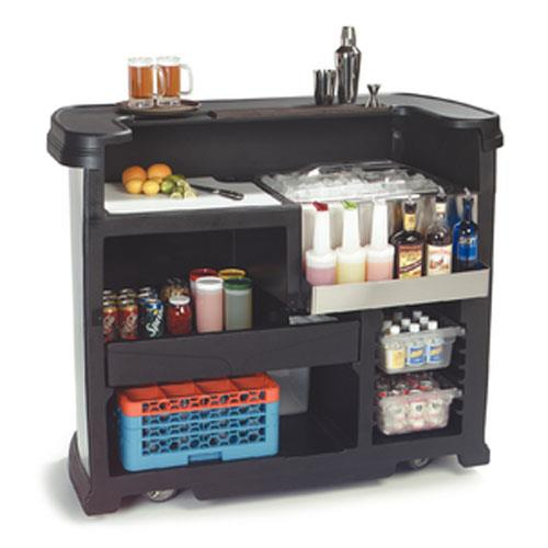 Carlisle 755003 black maximizer portable bar etundra for Dining room equipment