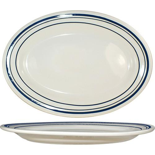 Click here for 12 1/2 in x 9 in Catania™ Platter With Blue... prices