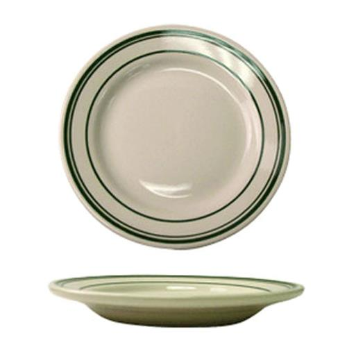 """Verona 5 1/2"""" Plate w/Green Band at Discount Sku VE-5 ITWVE5"""