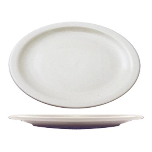 ITI BR-13 11 1/2 in x 9 in Brighton Porcelain Platter for Restaurant Chef