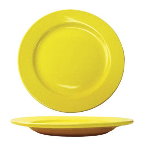 """Cancun 12"""" Yellow Plate w/Rolled Edge at Discount Sku CA-21-Y ITWCA21Y"""