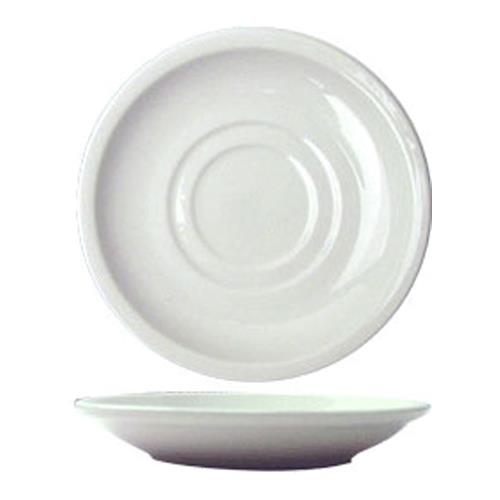 ITI DO-2 6 in Dover Porcelain Saucer for Restaurant Chef