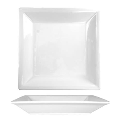 "ITI EL-9 Elite 9 1/8"" Square Fine Porcelain Plate for Restaurant Chef"