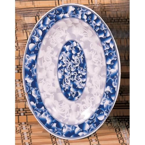 "9 7/8"" x 7 1/4"" Blue Dragon Oval Platter"
