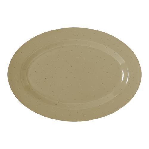 """Supermel I Sandstone 10"""" Oval Platter at Discount Sku OP-610-S GETOP610S"""