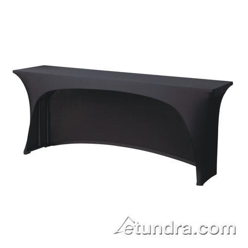 Contour 6 ft x 18 in Black Table Cover at Discount Sku CC618CC SNPCC618CC