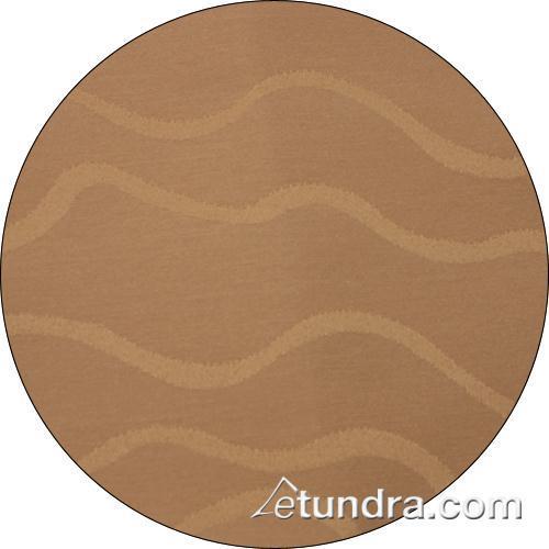 Wave 120 in Round Sandalwood Tablecloth at Discount Sku TWAV120ROMED SNPTWAV120ROSW