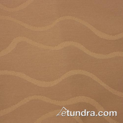 Wave 85 in x 85 in Sandalwood Tablecloth at Discount Sku TWAV8585OMED SNPTWAV8585OSW