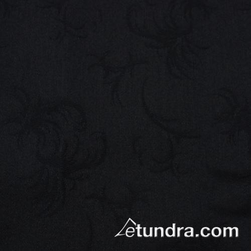Windsor 90 in x 90 in Black Tablecloth at Discount Sku TWIN9090ODK SNPTWIN9090OBK