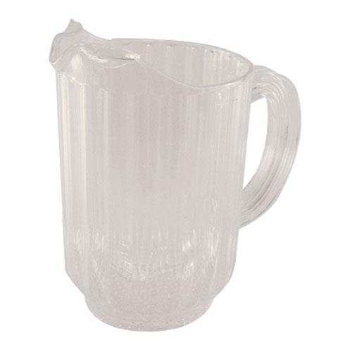 Crestware P60 60 oz Clear Plastic Pitcher for Restaurant Chef