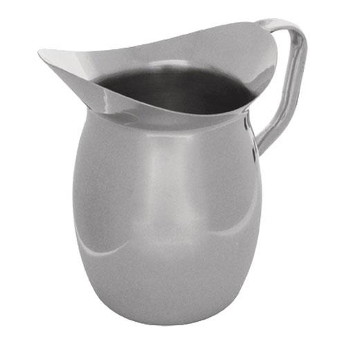 Tablecraft 203 3 Qt Stainless Steel Bell Water Pitcher for Restaurant Chef