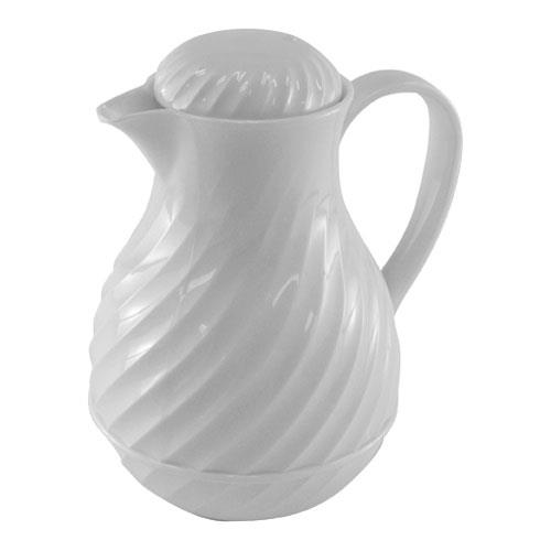 Update International F3022/40 42 Oz White Swirl Carafe for Restaurant Chef