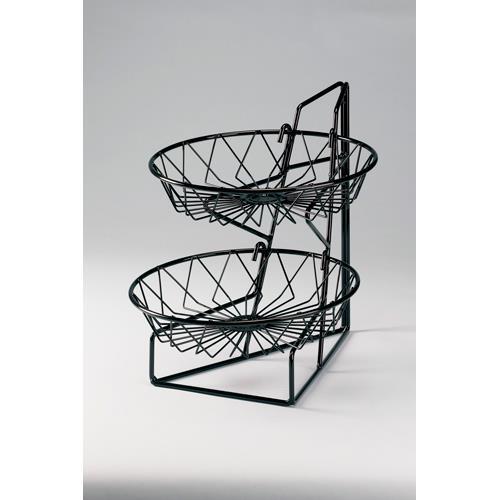 2-Tier Round Basket Mechandiser at Discount Sku 1292-2 CLM12922