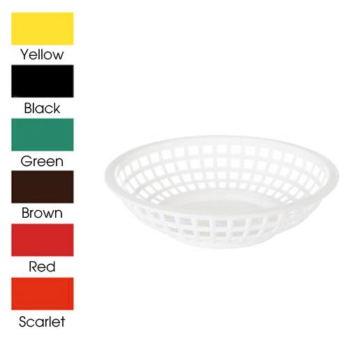 "8"" Black Round Basket at Discount Sku RB-820-BK GETRB820BK"