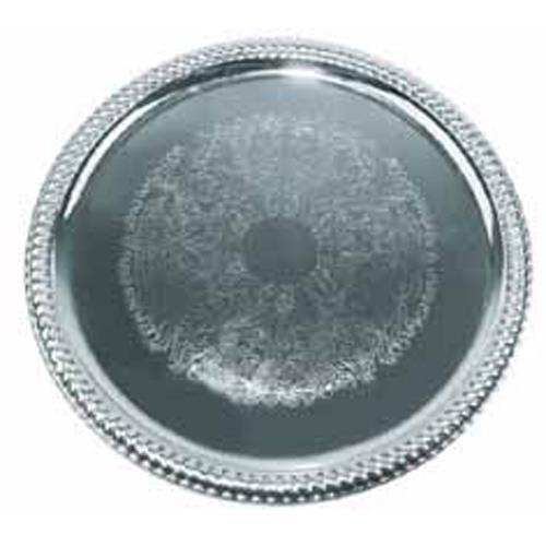 14 in Round Chrome Serving Tray at Discount Sku CMT-14 WINCMT14