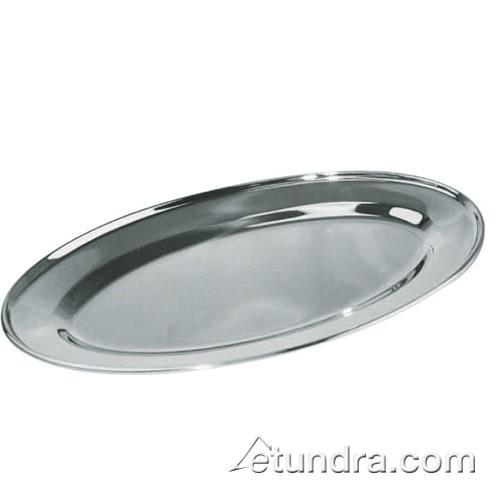 21 3/4 in x 14 1/2 in Oval Stainless Steel Platter at Discount Sku OPL-22 75383