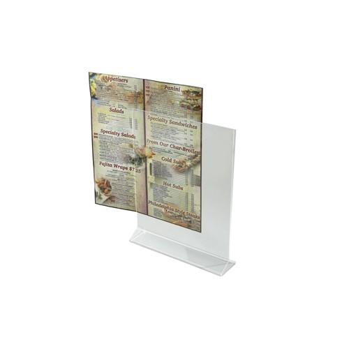 Winco atch 811 8 in x 11 in acrylic table card holder for 11 inch table