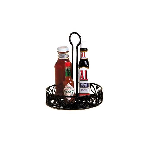 "Ironworks 7 3/4"" Leaf Wrought Iron Condiment Rack at Discount Sku LDCC18 AMMLDCC18"
