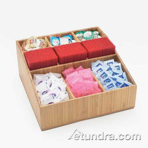 9 Section Bamboo Coffee Organizer at Discount Sku 1714 CLM1714