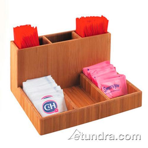Cal mil 796 60 6 section bamboo condiment organizer for Dining room equipment