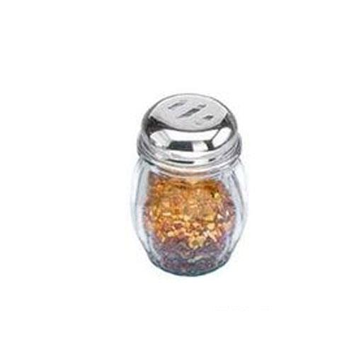 American Metalcraft 3307 6 oz Glass Spice Shaker w/Top for Restaurant Chef