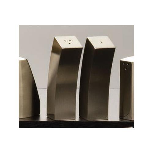 2 oz Curved Stainless Steel Salt & Pepper Set at Discount Sku SPDX44 AMMSPDX44