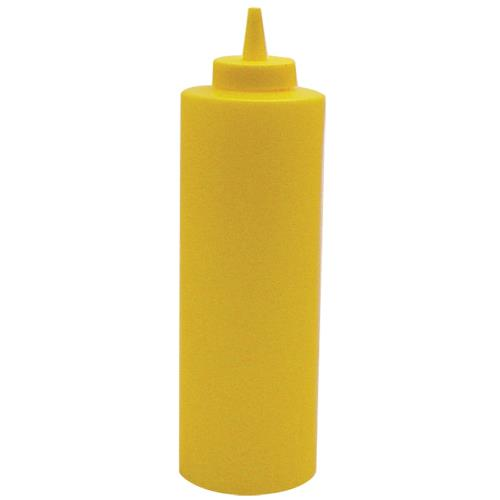 Winco PSB24Y 24 oz Yellow Squeeze Bottle for Restaurant Chef