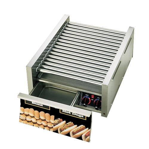Star 45scbd grill max pro 45 hot dog roller grill w bun for Equipement resto pro