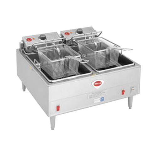 30 lb. 11.5KW Dual Pot Electric Fryer at Discount Sku F-85 WELF85