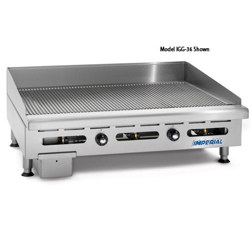 "60"" Grooved Gas Griddle at Discount Sku IGG-60 IMPIGG60"