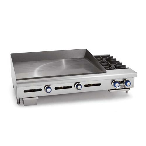 24 Gas Griddle ~ Imperial itg ob in gas griddle w open