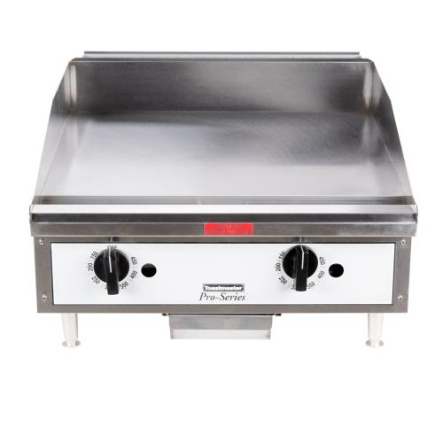 24 Gas Griddle ~ Toastmaster tmgt in pro series™ thermostatic griddle