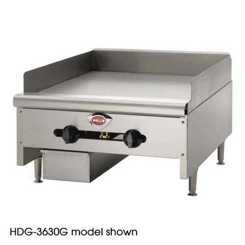 24 Gas Griddle ~ Wells hdg g quot manual gas griddle etundra
