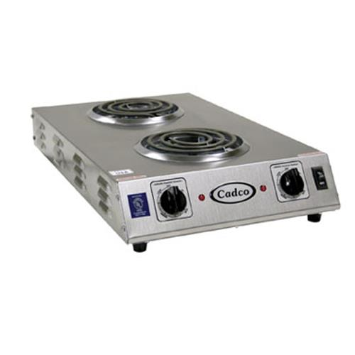 Cadco - CDR-1TFB - 120V/1650W Double Space Saver Hot Plate