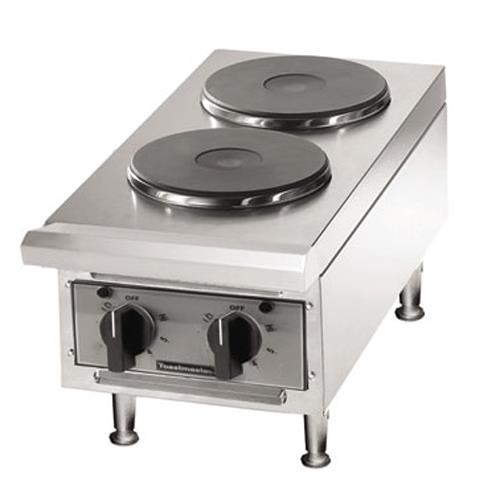 ... ? Solid-Type 2 Burner Countertop Electric Hot Plate Product Image