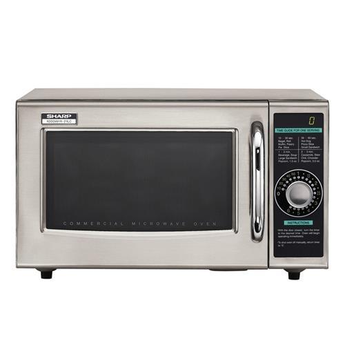 Sharp R 21LCF 1000 Watt Commercial Microwave Oven 074000616493 eBay