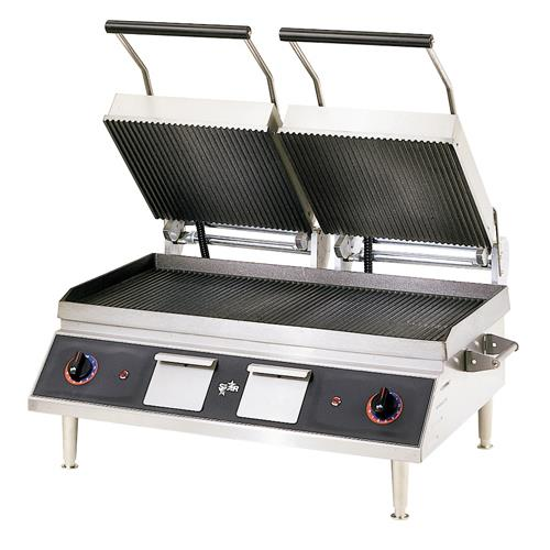 Star cg28ib pro max 28 in grooved sandwich grill for Equipement resto pro