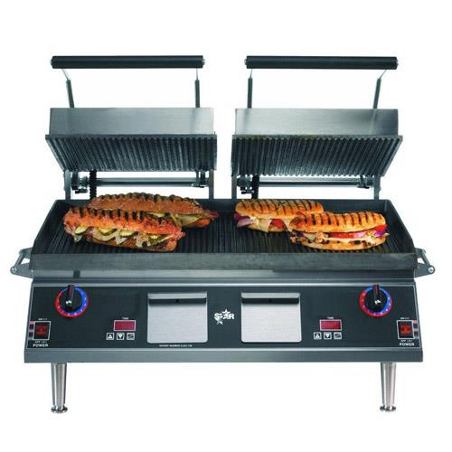 Star pro max grooved sandwich grill with electronic timer for Equipement resto pro
