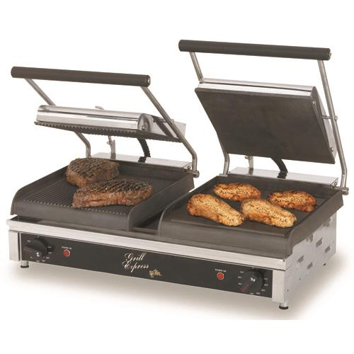 """Grill Express 20"""" Grooved Sandwich Grill"""