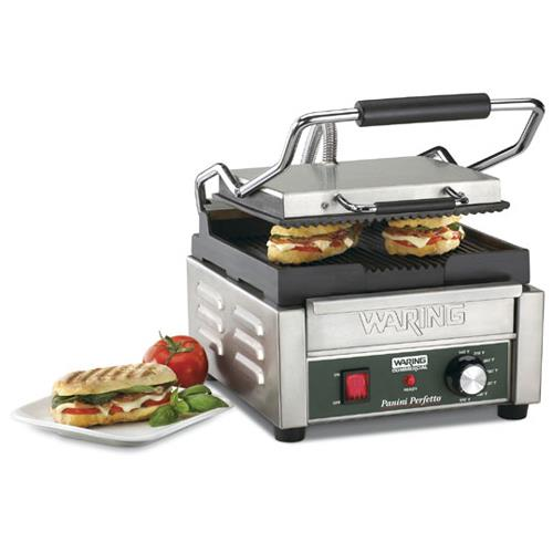 Italian Perfectto Compact Panini Grill w/ Ribbed Plates at Discount Sku WPG150 51406